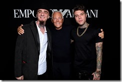 Giorgio Armani, Jax e Fedez - SGP