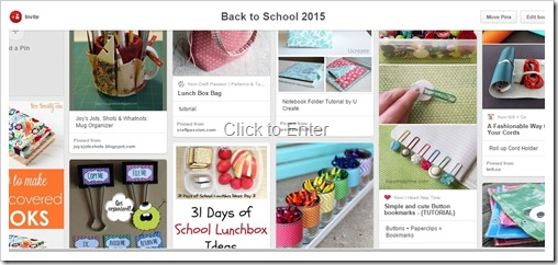 back to school 2015 pin board