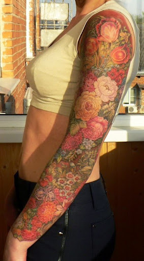 full sleeve tattoos girls