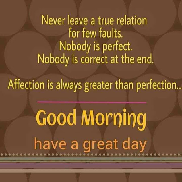 Never Leave a true relation for few fauls. Nobody is perfect. Nobody is correct at the end Good Morning have a nice day