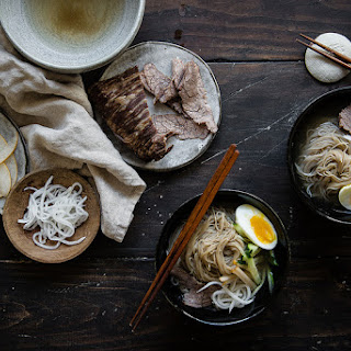 Mul naengmyeon (Korean cold noodles).