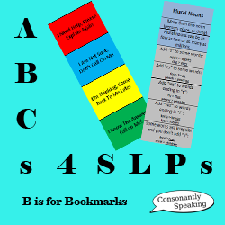 ABCs 4 SLPs: B is for Bookmarks image