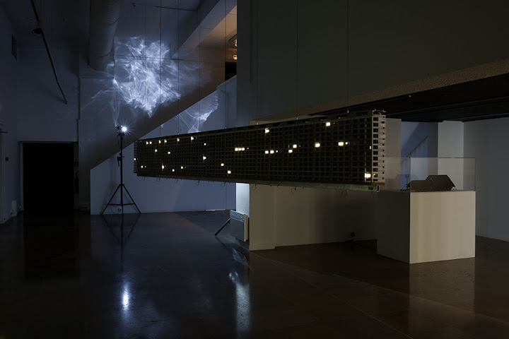 Bertrand Lamarche, Le-Haut-du-Lièvre, 2012, View of the Exhibition Cosmodisco, Nantes. © Ville de Nantes- Musée des Beaux-Arts - Photo : C. CLOS