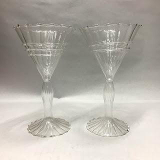 Venetian Glass Martini Glass Pair