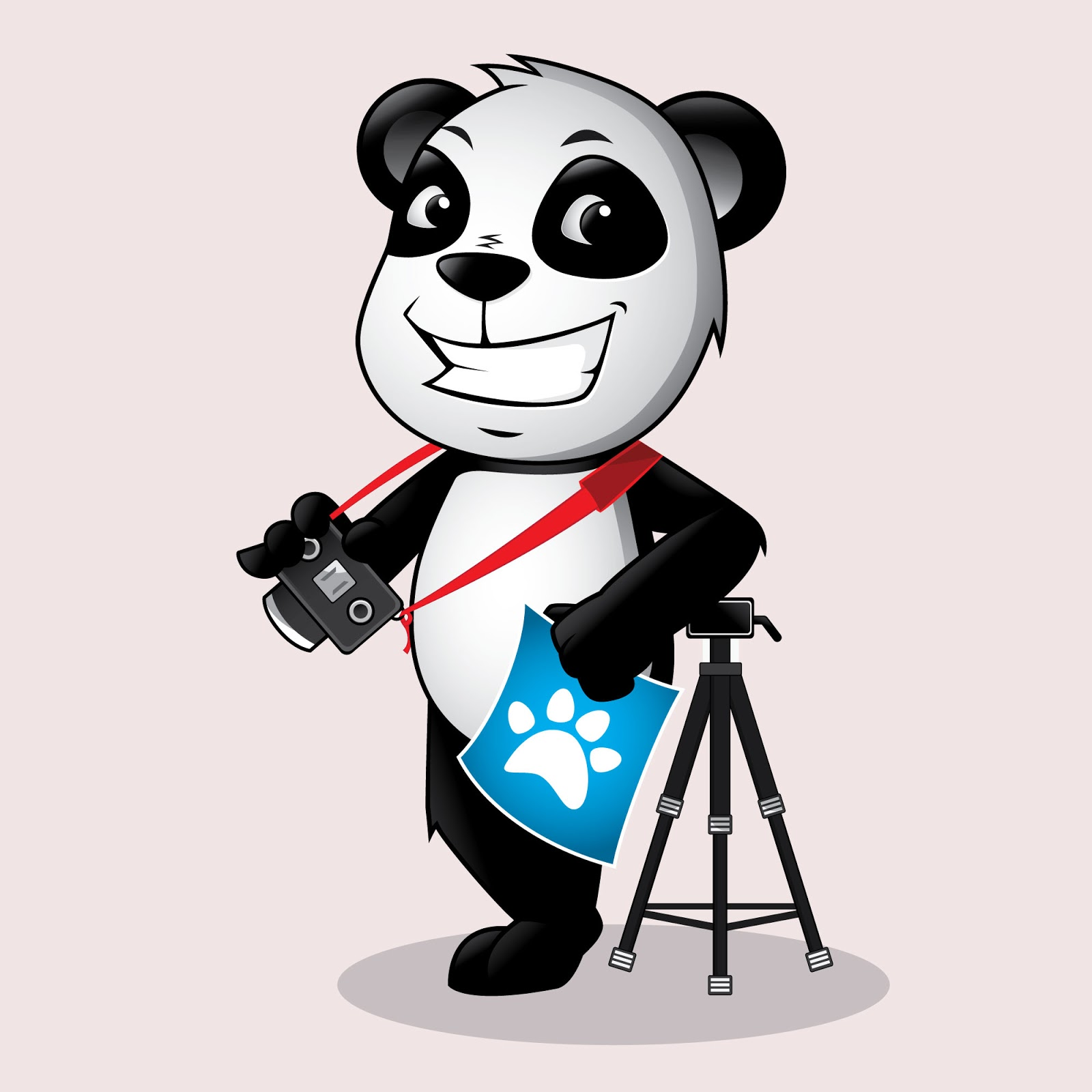 Panda Photographer Mascot Logo Free Download Vector CDR, AI, EPS and PNG Formats