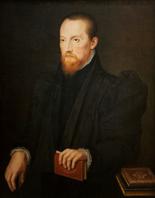Pieter Pourbus - Bearded, red-headed Man, seated - Google Art Project