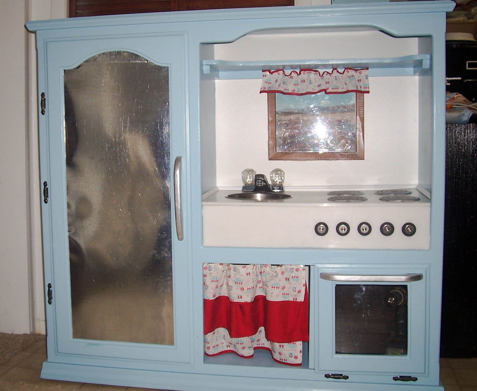 Homemade Play Kitchen Similiar Homemade Kitchen From Entertainment Center Keywords