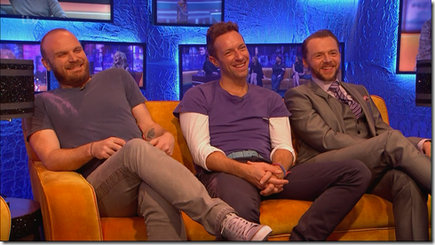 coldplay jonathan ross simon pegg