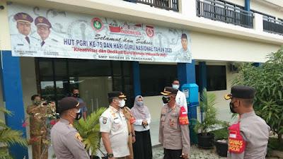 Tiga Pilar Kecamatan Batu Ceper Bersama TNI, Polri Gelar Pengamanan Penyaluran BST