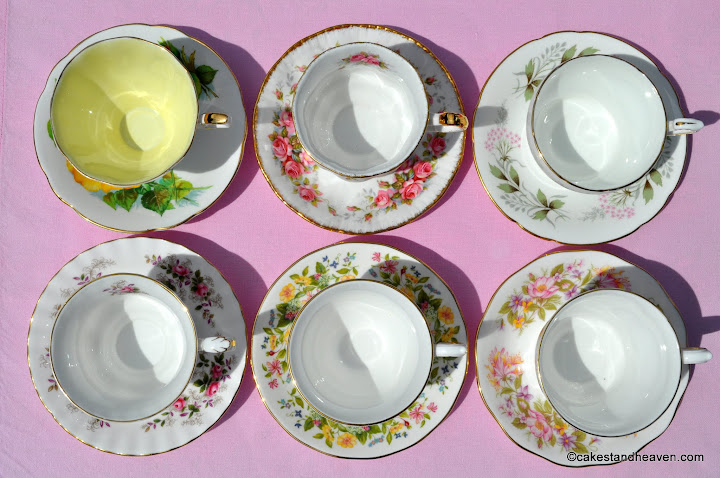 six teacups & saucers 3