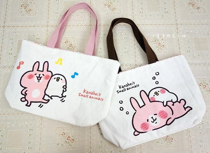 3 全家卡娜赫拉的小動物(P助與兔兔)拖特包、保溫瓶