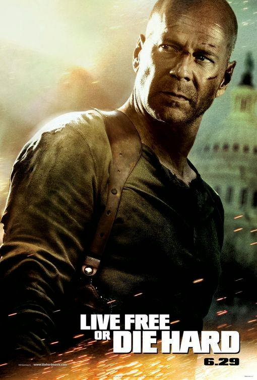 Poster Of Live Free or Die Hard (2007) Full Movie Hindi Dubbed Free Download Watch Online At Alldownloads4u.Com