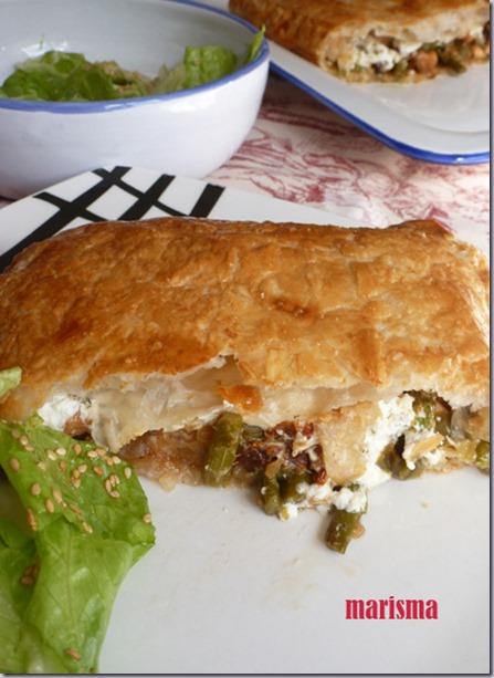 hojaldre con salmón fresco y verduras,racion2 copia