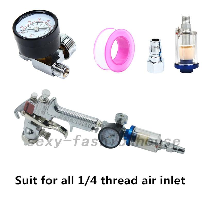 new scratch doctor mini air pressure regulator gauge in line water trap filter ebay. Black Bedroom Furniture Sets. Home Design Ideas