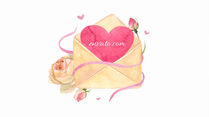 Valentine's Day and Wedding Watercolor Package