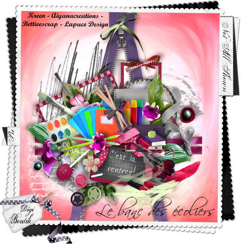 Kid's Scrap-Kit - The bench for Schoolchildren