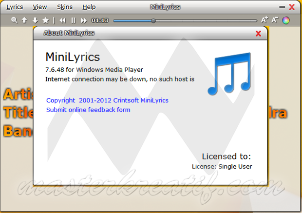MiniLyrics 7.6.48