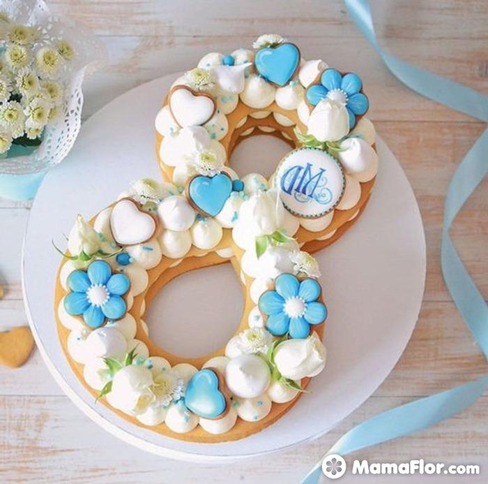 tortas con números 7