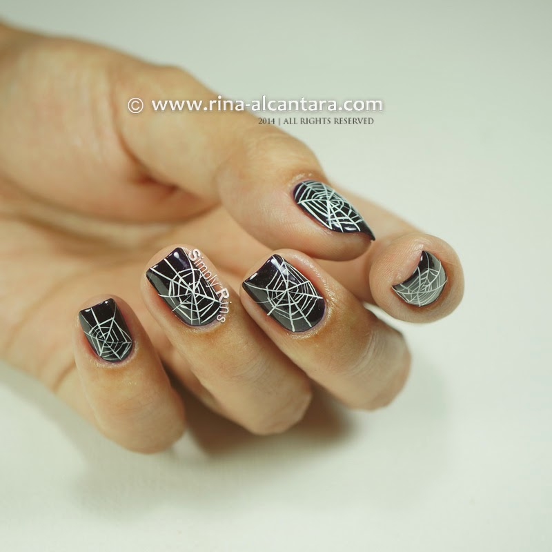 Cobwebs (Freehand) Nail Art