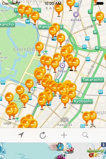 Smoking area info sharing map