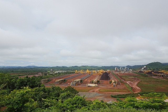 A view of S11D mine surrounded by Carajás National Forest, in Canaã dos Carajás, Brazil, February 2017. Photo: Milton Leal / Diálogo Chino / ChinaFile / Chinadialogue