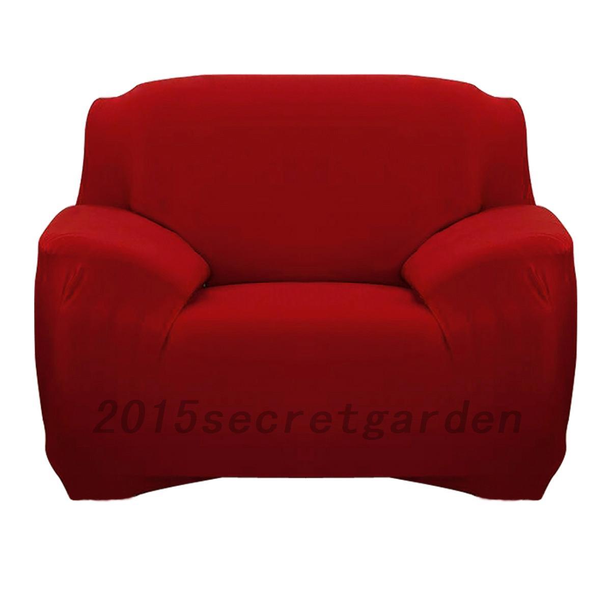 Sesselhusse Sofaabdeckung Sitzhussen Schwarz Rot Grau Blau Polyester Sofabezug