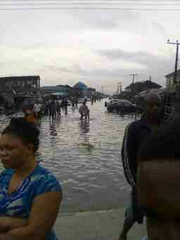 Photos: Heavy Traffic, Closure Of Shops At Jakande Estate Due To Rain