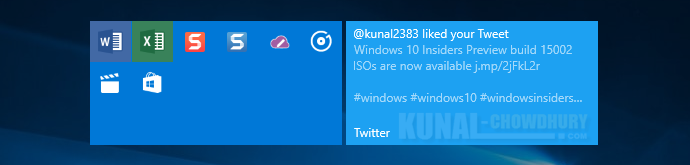 Wide sized grouped tile on Windows 10 Creators Update (www.kunal-chowdhury.com)