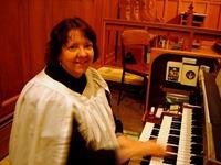 Anne Matlack at organ