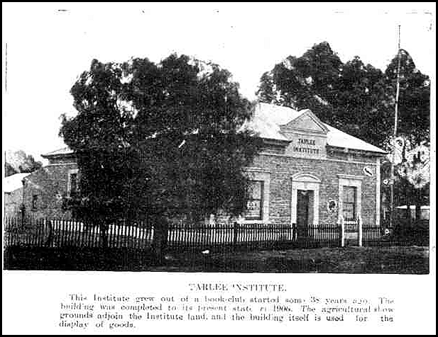 Tarlee Institute as completed in 1906
