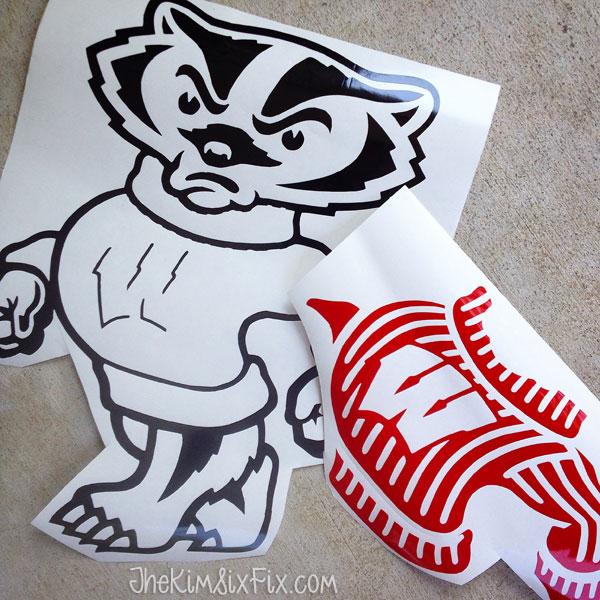 Bucky badger vinyl sticker