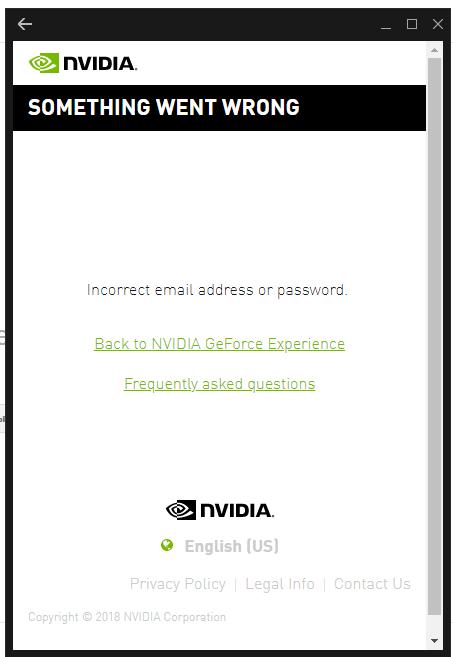 Не могу зайти в geforce experience - Cправка - Gmail