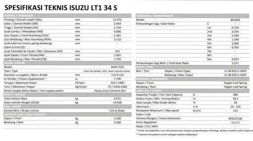 Bus Isuzu LT 134s 250ps Resmi Rilis, Dan Ini Final Spec Bus Isuzu LT 134s