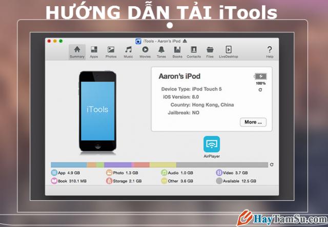 Tải, cài đặt iTools để quản lý dữ liệu iPhone,iPad