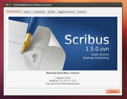 Scribus 1.5.0 - info