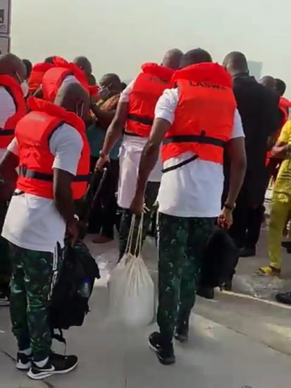 Super Eagles finally leave for Benin by boat for AFCON qualifier (Video)
