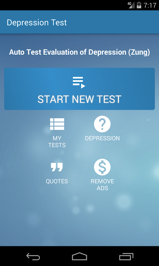 Depression Test- screenshot