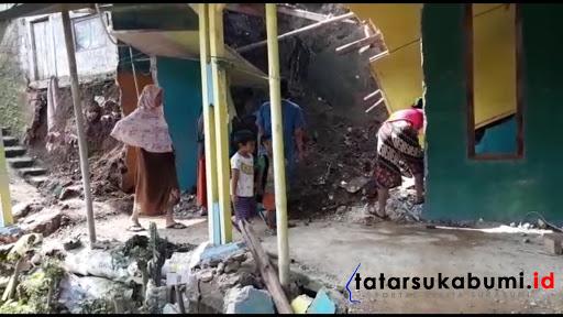 Cuaca Ekstrem di Sukabumi, Rumah Dikawasan Tebing Siaga Longsor