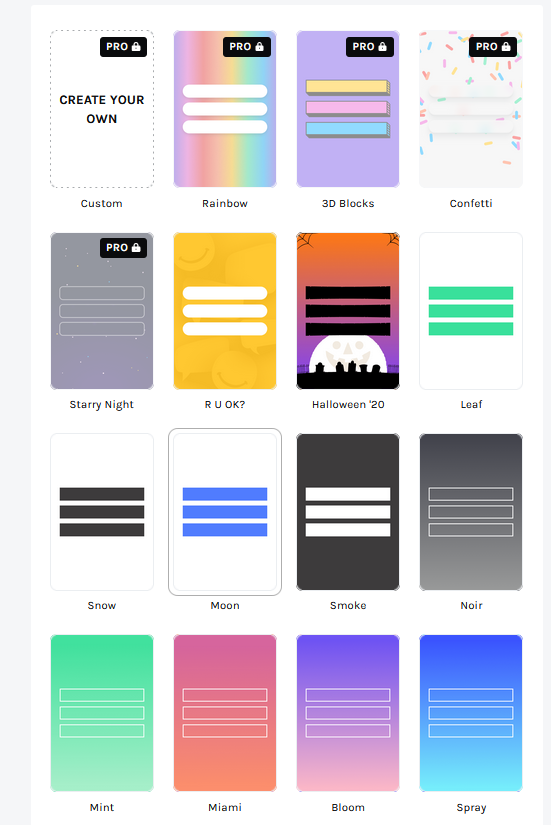 Dashboard Theme Linktree