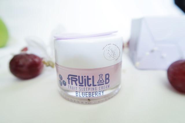 Kemasan Fruitlab Fruit Sleeping Cream Blueberry