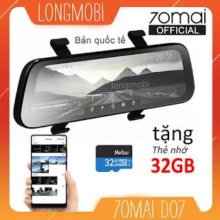 70mai d07 camera hanh trinh guong