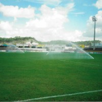 Rega de aspersão em campo de futebol (Torres Vedras)