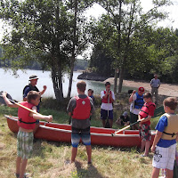 Canoe safety session