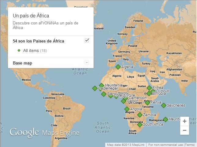 África, geografía, mapa, entradas, aprender