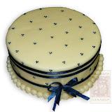 47. kép: Ünnepi torták - Kék masnis torta