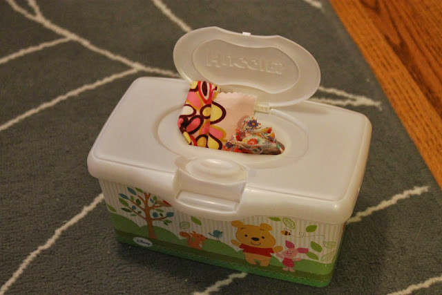 wipes container baby toy
