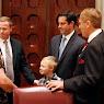 Senator  Ball's Family Visits Albany