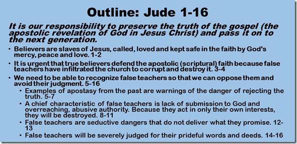 Outline Jude 1-16
