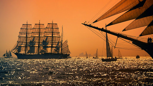 Tall Ship _Sedov_ at Sunset, Boston, Massachusetts.jpg