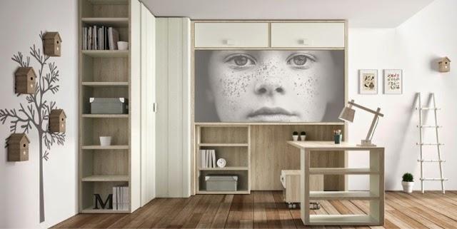 Camas abatibles o muebles cama for Dormitorios juveniles con escritorio incorporado